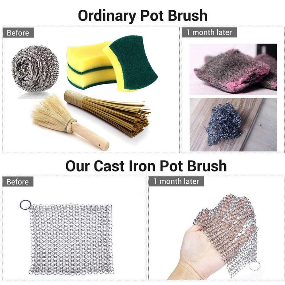 Person - Kitchen iron chainmail scrubber