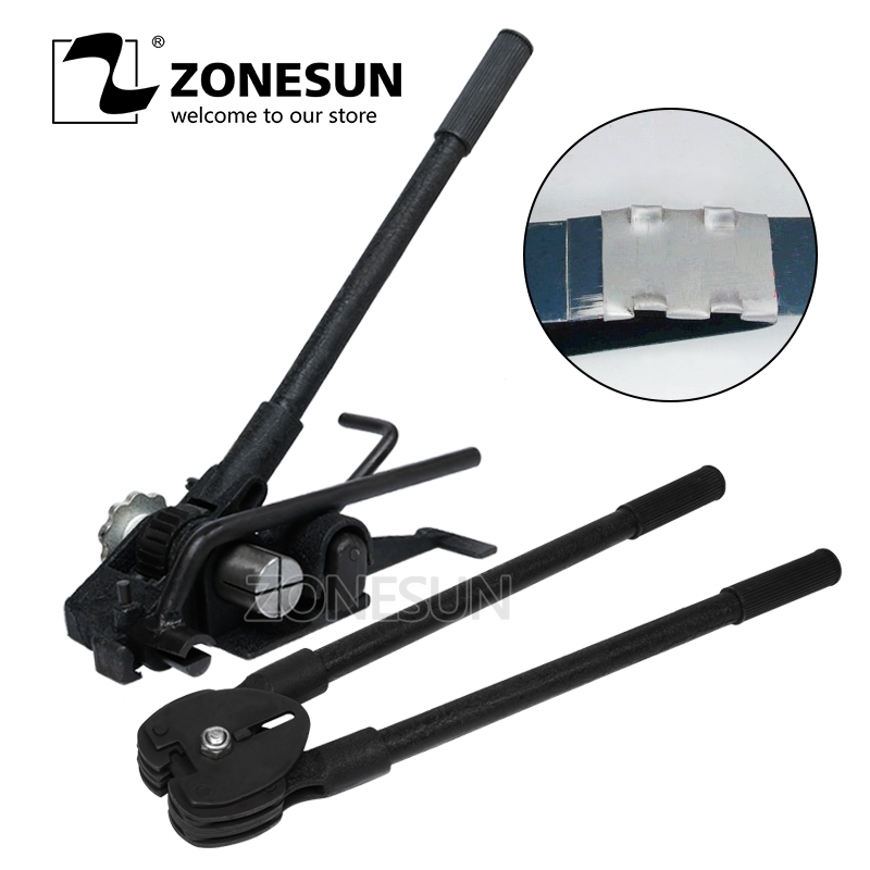 ZONESUN HM-93 Heavy Duty Manual Steel Strip Strapping Tools Steel Strapping Packing Machines Sealers For 19mm Steel Strip цена