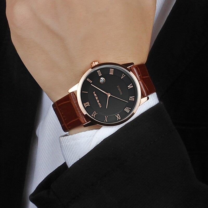 773cb248646 Sanda 2019 Mens Relógios Top Marca de Luxo Ultra fina Moda relógio de pulso  dos homens