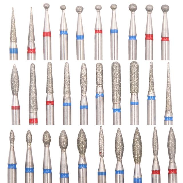 Diamond Nail Drill Milling Cutter Nail Art Drill Bit Cuticle Clean Cutter for Manicure Nail Files Electric Mills Burr Nail Tool 1