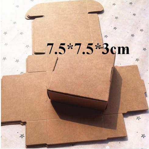 72211356b18 Online Shop 100pcs Cheap Kraft gift packaging cardboard paper box ...
