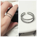 2017 Retro Sterling Sliver S925  Ring Hemp Flower Thai Silver Resizable Ring NOT Allergy Lady's Gifts Tires Pure Sliver  TE00002