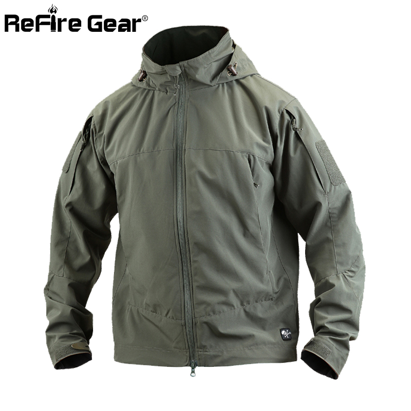 Spring Lightweight Waterproof Soft Shell Tactical Jacket Men Military Style Hooded Coat Windbreaker Casaul Outerwear Army Jacket