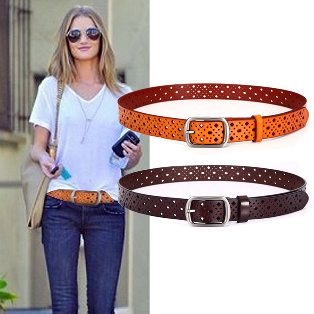 Leather Belt Top Quality  Brown Black