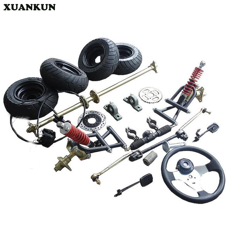 XUANKUN DIY Conversion Site Drift Four - Wheeled Karting Accessories Front Rear Axle Rear Axle Assembly 6 - Inch Round цена