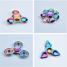 DHL 400pcs pcs/lot New 2017 Metal Alloy Tri-Spinner Hand Fidget Spinner For Autism and ADHD Finger Spinner Anti Stress Gift Toy