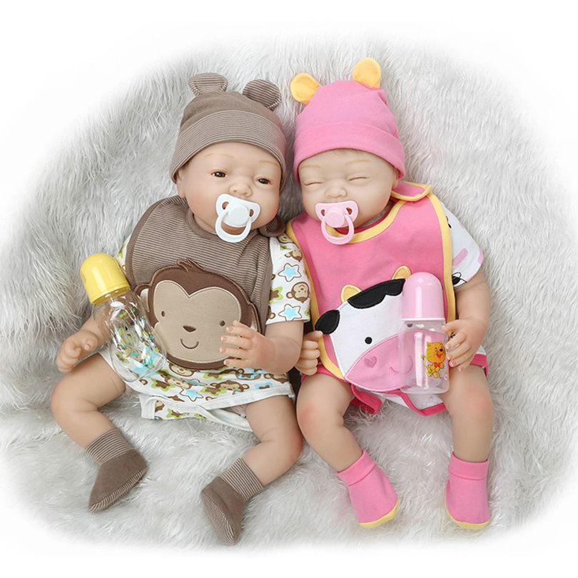 Lovely Baby Dolls Reborn Cotton Body Silicone Reborn Dolls Babies Doll Toy Simulation Poupon Reborn Brinquedos Baby-Reborn 2016 cotton body reborn babies lifelike princess girls doll toy rooted mohair gift for baby reborn poupon brinquedos new year