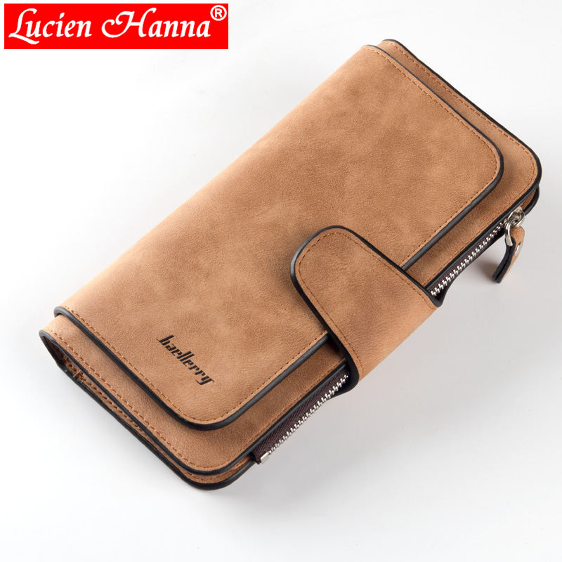 New Slim Wallet Scrub Leather Women Wallets Female Card Holder Long Lady Clutch Coin Purse portefeuille femme Carteira Feminina takem pu leather women hasp long eiffel tower wallet purse female wallets purse card holder coin cash bag portefeuille femme