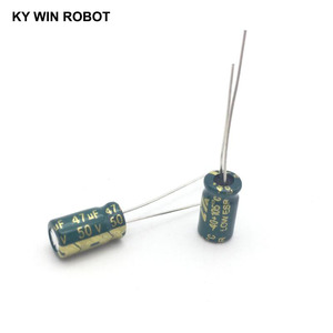 Image 3 - 50 ピース/ロット 50 ボルト 47 uf 6 × 12 ミリメートル高周波低インピーダンスアルミ電解コンデンサ 47 uf 50 ボルト