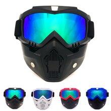 2019 Hot Vintage Motorcycle Shark Helmet Goggles Motocross Glasses Retro Windproof Open Face Harley Helmets Mask