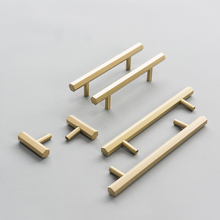 Tbar Brushed Brass Drawer Knobs and Pulls Hexagon Gold Kitchen Cabinet Bathroom Cupboard Handles-4Pack