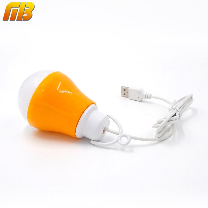 [MingBen] USB LED Bulb Reading Light Portable Night Light 5V DC 5W Work With Power Bank Notebook Camping Outdoor Light LED Lamp