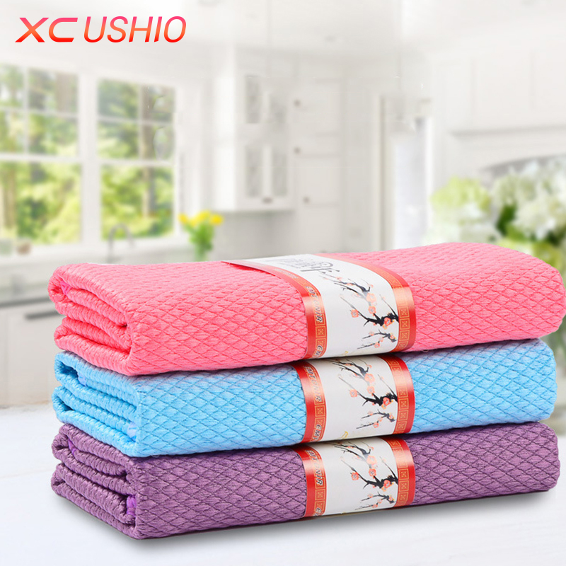 10Pcs Absorbent Microfiber Towel Car Home Kitchen Washing Clean Wash Cloth T JH