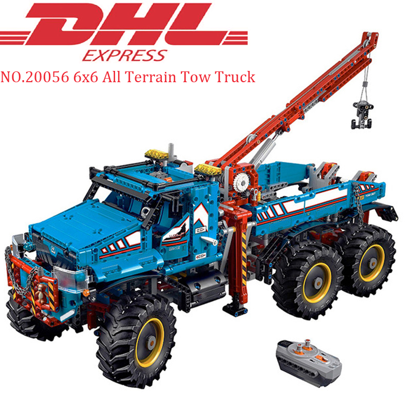 Lepin 20056 1912Pcs Technic The Ultimate All Terrain 6X6 Remote Control Truck Set legoing 42070 Building Blocks Bricks Toy Model lepins 1912pcs technic series the ultimate all terrain 6x6 remote control truck building blocks bricks toys model figures gift