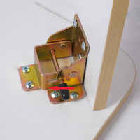 4Pcs Lot Locking Folding Bracket FOLDING TABLE LEG Hinges With Screws Furniture RV Brackets HM91
