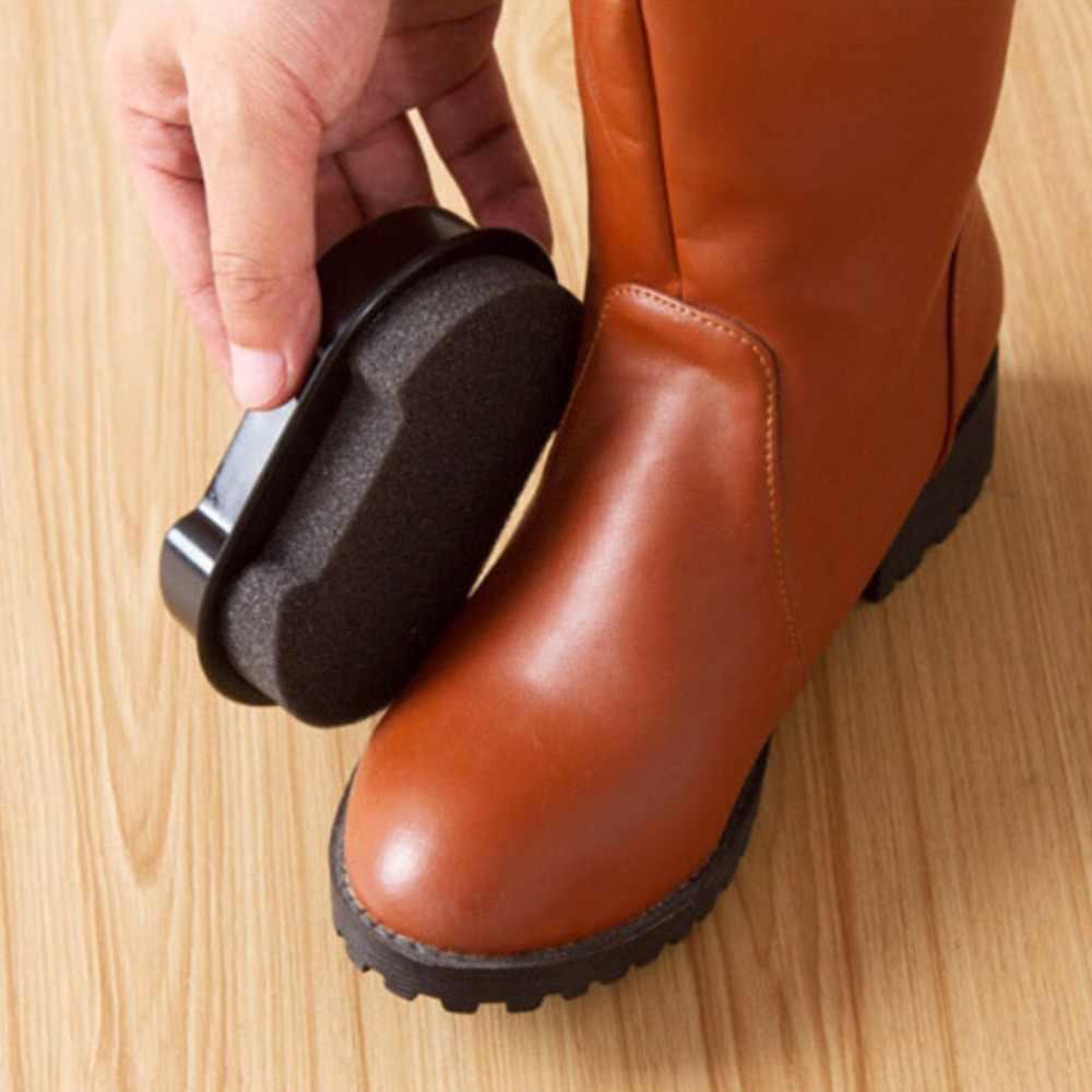 1Pcs Leather liquid wax shining Sponge polisher Shoe Boot bag sofa Quick Shine Shoes Brush Cleaner Polishing Cleaning