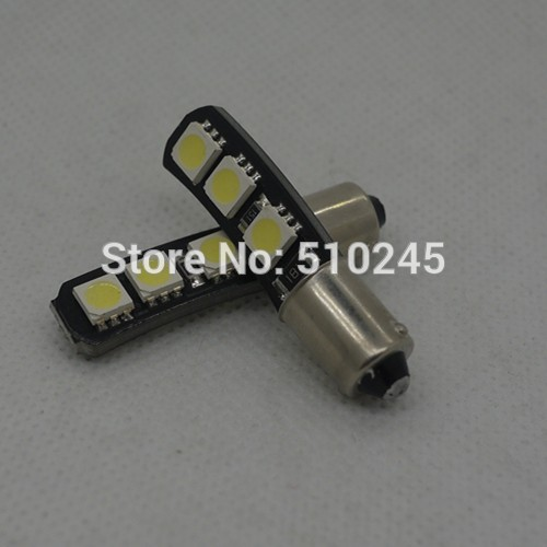 500X auto ba9s T4W 5050 6 smd canbus LED No Error CAR interior indicator light Wedge 12V White bulb