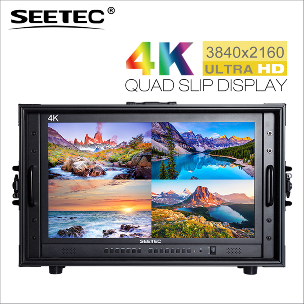 4K238-9HSD-CO 23.8 4K 3840x2160 Ultra HD Broadcast Monitor for CCTV Monitoring Making Movies Carry-on LCD Director Monitor