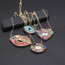 Ожерелье в стиле барокко с кристаллами, глаза, дикое ожерелье с геометрическим рисунком дикой улицы, 873