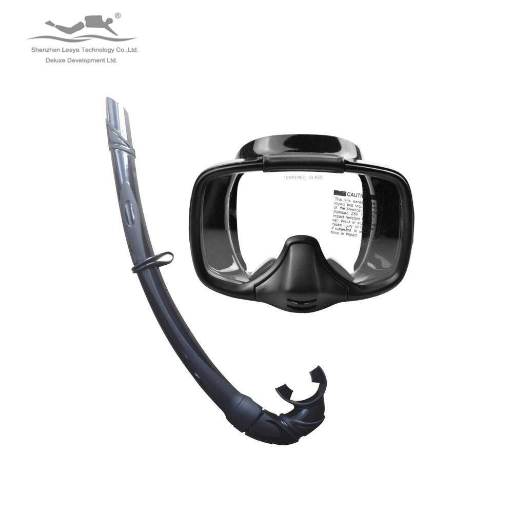 Snorkeling Set Tempered Glass One Lens Diving Mask+Slincone Folding Snorkel Scuba Dive Gears For Freediving Spearfishing MS25519 цена