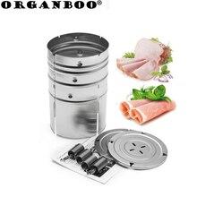 ORGANBOO 1 шт. кухонные инструменты для приготовления пищи нержавеющая сталь ветчина пресс машина морепродукты гамбургер инструменты для Разделки мяса птицы круглой формы