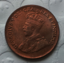 1936 with raised dot Canada 1 Cents COPY FREE SHIPPING(China)