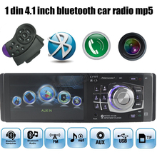 "Nowy 4.1 ""calowy ekran TFT HD radio samochodowe bluetooth samochodowy odtwarzacz mp5 USB SD 1080 P movie pomoc rear view camera car audio radio MP4"