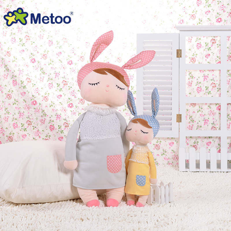 Metoo cute bunny baby small rabbit Angela doll plush toys creative fantasy doll for baby toys size tall 34cm 25cm hot cute plush sleeping baby doll newborn calm dolls soft bunny rabbit toys sleep mate placate baby toys gifts