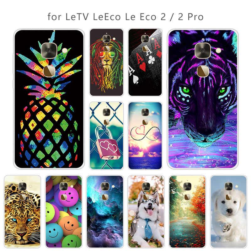 5.5 inç Için Leeco Le 2X527 Skuli Telefonu Kılıfları Için Yumuşak Temizle TPU kapak Letv Le S3 X626/ le 2 Le2 Pro X620 Ince Silikon Çapa
