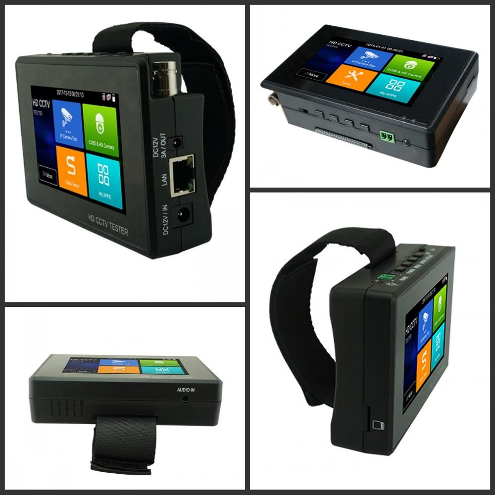 Image 4 - Wanglu Newest 4 inch Wrist CCTV IP Camera Tester H.265 4K IP 8MP TVI 8MP CVI 8MP AHD Analog 5 in 1 CCTV Tester Monitor with WIFI-in CCTV Monitor & Display from Security & Protection