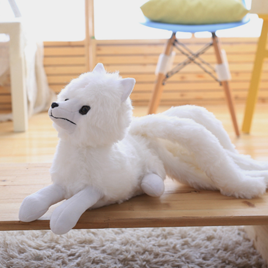 Large Cute Nine-Tailed Fox Plush Toys Animal Stuffed Ty Plush Animals Toy Cartoon Kids Doll Room Decoration Knuffels 50T0284 stuffed animal 120 cm cute love rabbit plush toy pink or purple floral love rabbit soft doll gift w2226