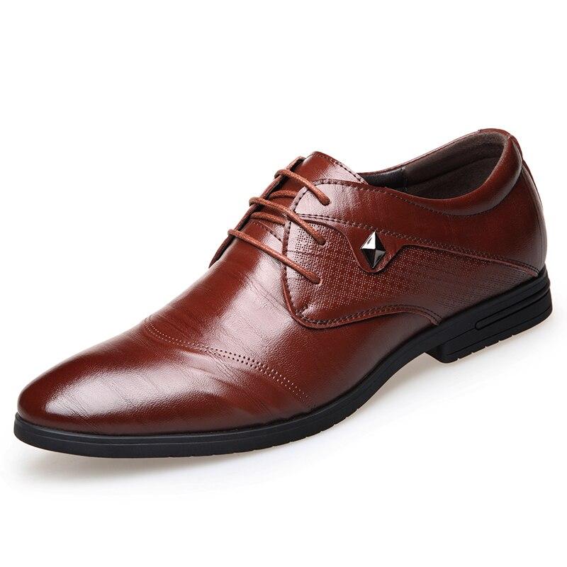 Misalwa Men Business Oxfords Men Dress Shoes Pointed Toe Carved Italian Men Formal Shoes Free Drop