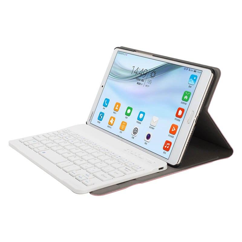 Bluetooth Keyboard+PU Leather Case Stand Flip For Huawei Mediapad M5/M5 8.4Inch SL@88