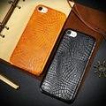 New Ultrafinos Caso Capa de Couro de Luxo crocodilo Caso padrão para iPhone7 para iphone 7 plus para iphone 6 6 s plus capa de luxo