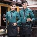 El nuevo hotel otoño e invierno cargado olla caliente restaurante cafe restaurant restaurante personal de personal de manga larga do329