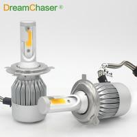 COB LED H7 Car Headlights Kit 72W 7600lm Auto Front Light H7 Fog Bulb 3000K Xenon