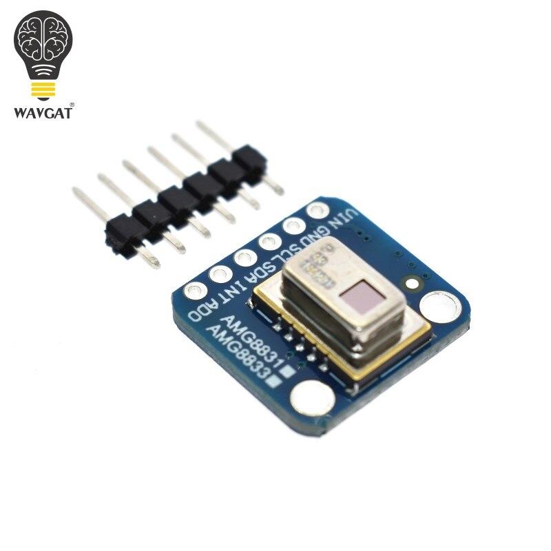 WAVGAT официальный AMG8833 IR 8*8 тепловизор массив датчик температуры модуль 8x8 инфракрасный датчик камеры Интегральные схемы      АлиЭкспресс