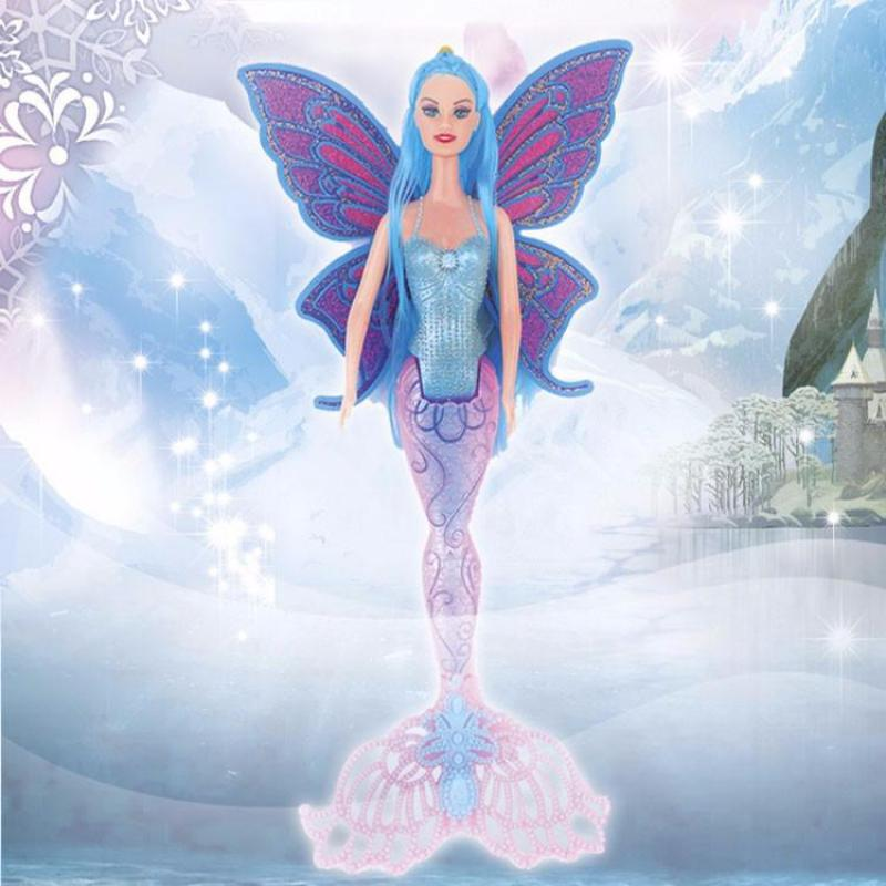 New Arrival 40CM Fashion Mermaid Girl Dolls Princess Mermaid Doll Toy With Wings Best Birthday Christmas Toy Gifts Brinquedos