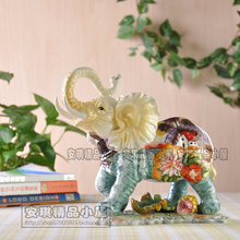 blue lucky ceramic elephant home decor crafts room decoration handicraft ornament porcelain animal figurines wedding