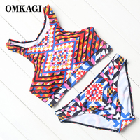OMKAGI Brand High Quality Bikinis Set Push Up Padded Bikinis Women Comfortable Sports Style Biquini 2017