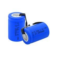 1-10 sztuk akumulator 1.2 V 2800mAh 4/5 Sub C(4/5SC) akumulator Ni-MH z lutowaniem nikiel Tabs dla elektronarzędzi elektryczna maszynka do golenia