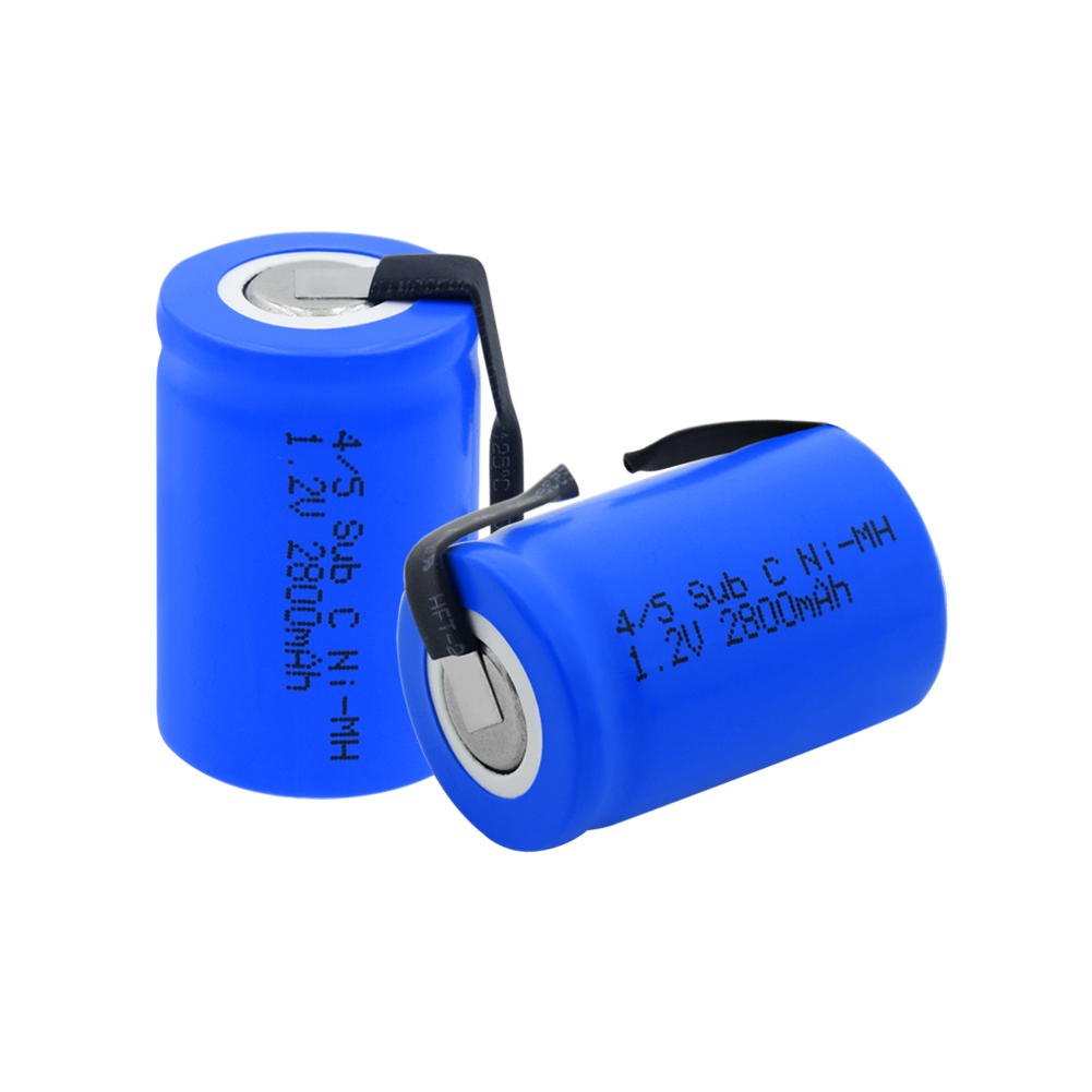 1-10 Pcs Rechargeable 1.2 V 2800mAh 4/5 Sub C(4/5SC) Ni-MH Battery With Soldering Nickel Tabs For Power Tools Electric Razor image