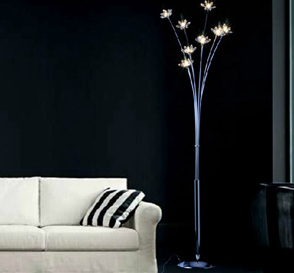 contemporary modern twiggy crystal floor lamp lighting home indoor bedroom living room parlor forey decoration d