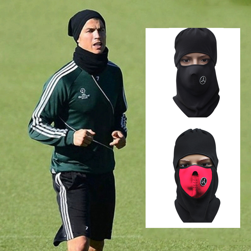 2019 Winter football Face Mask Cap Ski Soccer outside sports Mask Thermal Snowboard Shield Cold Headwear futbol Training Mask