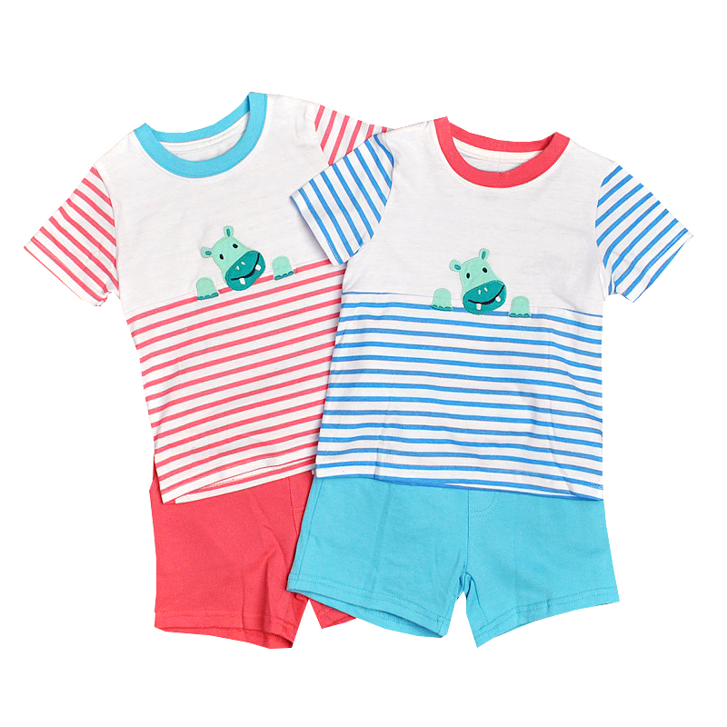 Kids Girl Summer Cotton Cartoon Cactus T-Shirt and Shorts Clothes Sets 2PCS for Unisex
