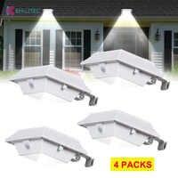 4 ADET Hareket Sensörü 12 LED Güneş Oluk ışıkları Güneş Enerjili Dış Aydınlatma Bahçe Güneş Sensörü Duvar Işık Sokak yard