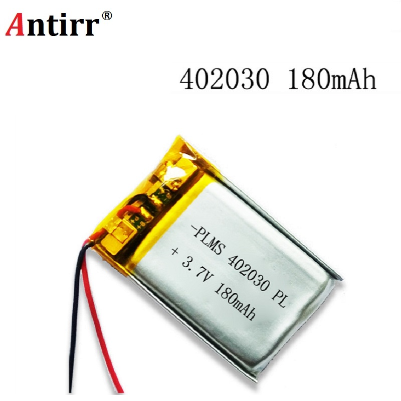 Polymer lithium battery 3.7 V 402030 042030 180mah can be customized wholesale CE FCC ROHS MSDS quality certification free shipping polymer lithium battery 651230 3 7v 200mah can be customized wholesale ce fcc rohs msds quality certification