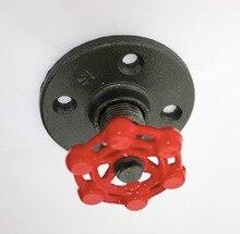 2 шт./лот промышленный стиль ретро чугунный фланец красный клапан настенный крючок декоративный