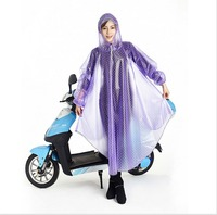 Ladies electric motorcycle raincoat poncho poncho multifunctional umbrella long sleeved transparent fashion raincoat