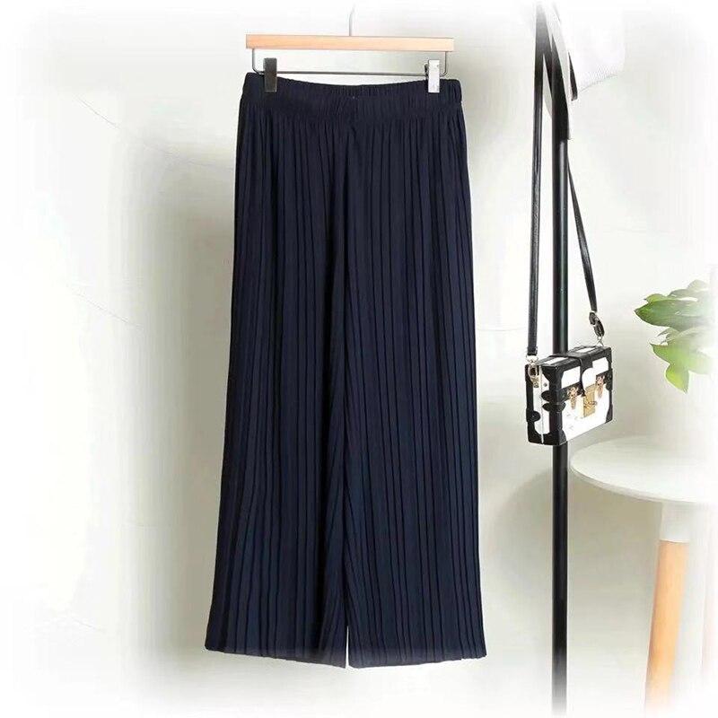 Nantersan pleated loose thin wide leg pants female nine pants thin section breathable casual pants 19
